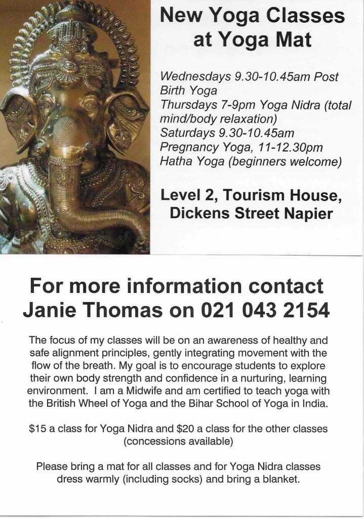 yogamat classes flyer